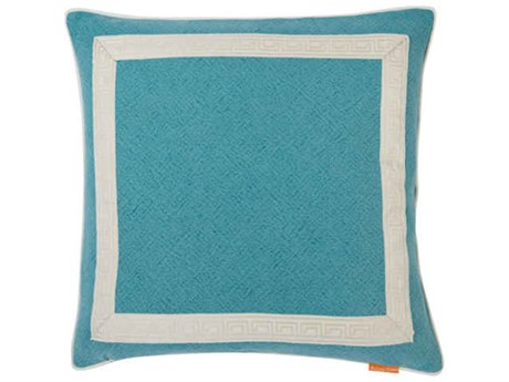 Aidan Gray Greek No-9 Turquoise 22'' Square Pillow AIDP22GRKNO9