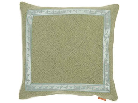 Aidan Gray Greek No-33 Green 22'' Square Pillow AIDP22GRKNO33
