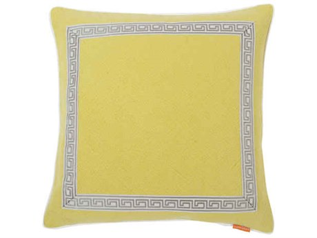 Aidan Gray Greek No-6 Green 22'' Square Pillow AIDP22GRKNO6