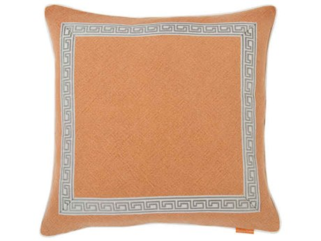 Aidan Gray Greek No-21 Orange 22'' Square Pillow AIDP22GRKNO21