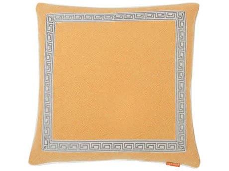 Aidan Gray Greek No-7 Orange 22'' Square Pillow AIDP22GRKNO7
