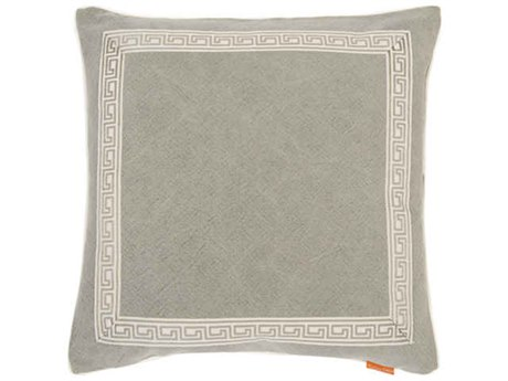 Aidan Gray Greek No-27 Gray 22'' Square Pillow AIDP22GRKNO27