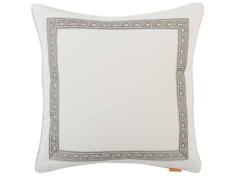 Aidan Gray Greek No-17 White 22'' Square Pillow AIDP22GRKNO17