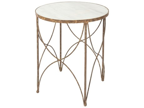 Aidan Gray Halmstad Rustic Storm 18'' Wide Round End Table AIDF382