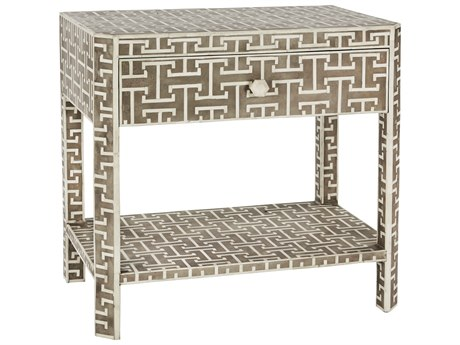 Aidan Gray Hermes Gray 28''W x 18''D Rectangular End Table AIDF386