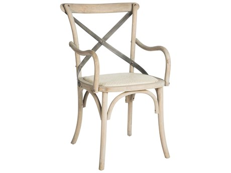 Aidan Gray Kason Natural Wood Dining Arm Chair (Sold in 2)