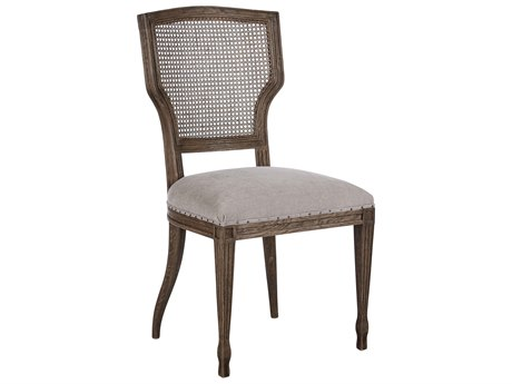 Aidan Gray Lisa Marie Cement / Burnt Oak Dining Side Chair (Sold in 2) AIDCH458BOCMCB
