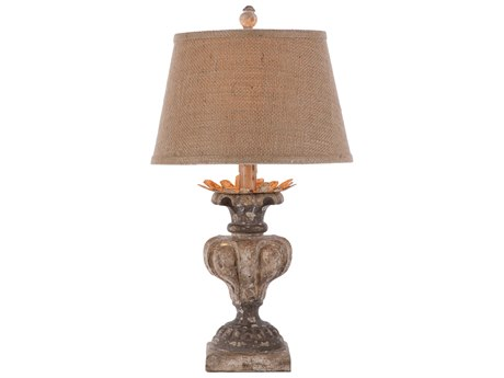 Aidan Gray Londra Distressed Gray / White / Gold Table Lamp AIDL103