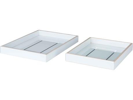 Aidan Gray Marty White / Silver Tray Set AIDD506SET