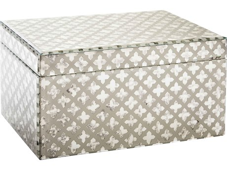 Aidan Gray Mirror / Cream Large Maureen Jewelry Box (Sold in 2) AIDD607