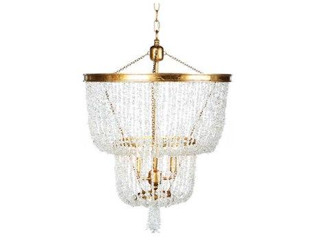 Aidan Gray Crystal / Gold 20'' Wide Mini Chandelier