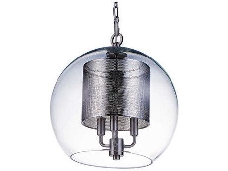 Aidan Gray Nickel 7'' Wide Glass Mini Chandelier AIDL908NKLPENHOM