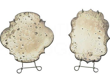 Aidan Gray Burnt Zinc  6''W x 8''H Table Mirrors (Set of 2) AIDDM215SET
