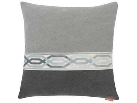 Aidan Gray Ocean No-2 Gray / Black 22'' Square Pillow AIDP22OCNNO2