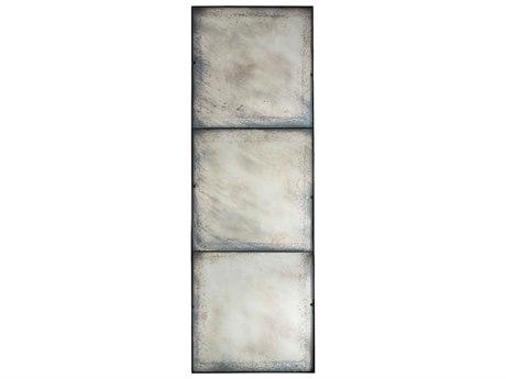 Aidan Gray Three Panel Black 30''W x 90''H Rectangular Floor Mirror AIDDM175