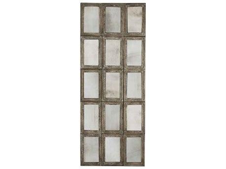 Aidan Gray 15 Panel Rustic Barnwood 35''W x 87''H Rectangular Floor Mirror AIDDM19015