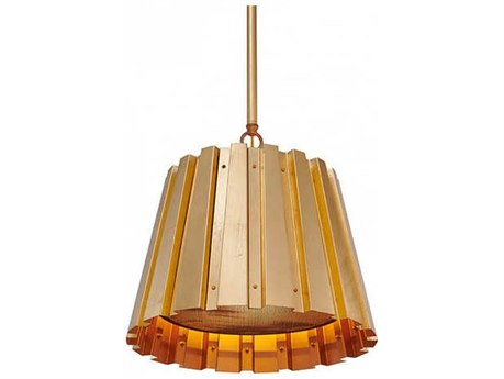 Aidan Gray Gold 14'' Wide Pendant AIDL716MGLDCHANHOM