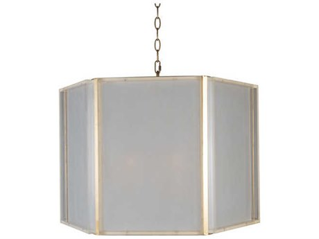 Aidan Gray Gold / Frosted Acrylic 25'' Wide Pendant AIDL927CHANHOM