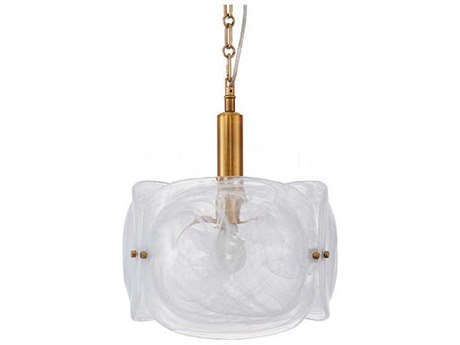 Aidan Gray Brass 13'' Wide Glass Pendant AIDL930PENHOM