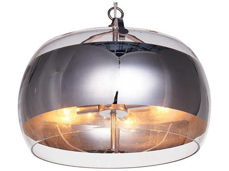Aidan Gray Chrome 16'' Wide Glass Pendant AIDL932PENHOM