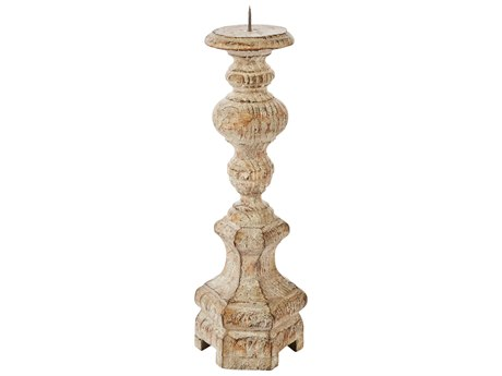 Aidan Gray Petite Roma Rustic Wood Candle Holder AIDC145