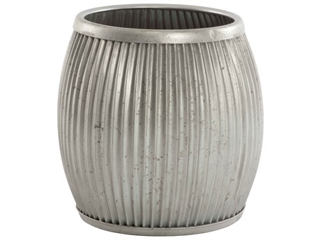 Aidan Gray Galvanized Natural Metal Planter AIDG85