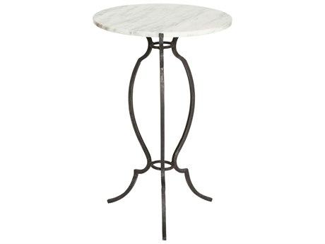 Aidan Gray Portrack House Black Garden No. 2 14'' Wide Round Pedestal Table AIDF272