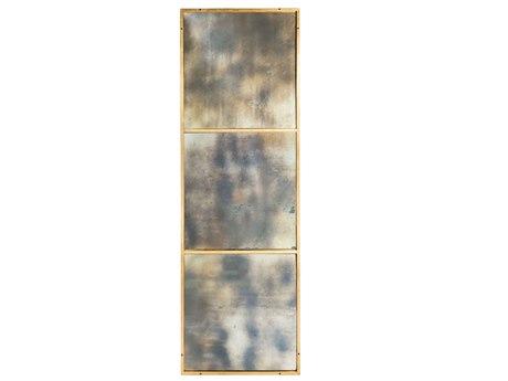 Aidan Gray Rivet Gold Leaf 31''W x 91''H Rectangular Floor Mirror AIDDM188LARGE