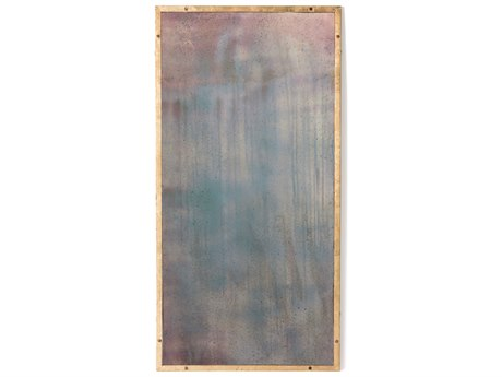 Aidan Gray Rivet Gold Leaf 36''W x 72''H Rectangular Floor Mirror AIDDM188MEDIUM