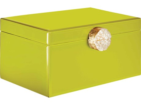 Aidan Gray Chartreuse Large Samantha Jewelry Box (Sold in 2) AIDD609