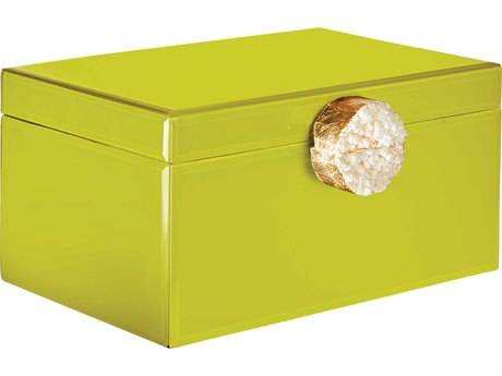 Aidan Gray Chartreuse Small Samantha Jewelry Box (Sold in 2) AIDD610