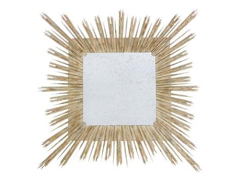 Aidan Gray Skovde Cathedral White 61'' Wide Sunburst Wall Mirror AIDDM262