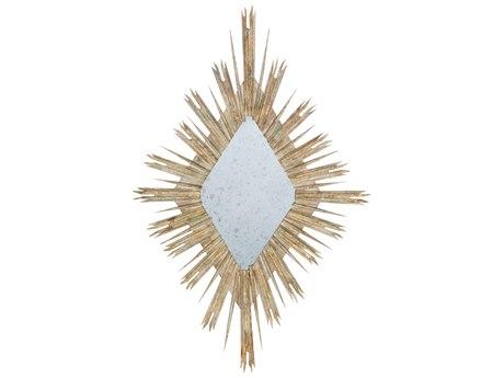 Aidan Gray Diamond Skovde Cathedral White 34''W x 55''H Sunburst Wall Mirror AIDDM264