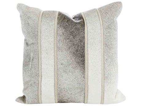 Aidan Gray Smoky No-3 Gray Hair on Hide 18'' Square Pillow AIDP18SMKYNO3