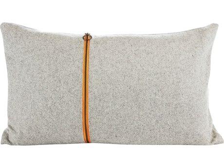 Aidan Gray Smoky No-2 Gray / Orange 20'' x 12'' Rectangular Pillow AIDPL12SMKYNO2
