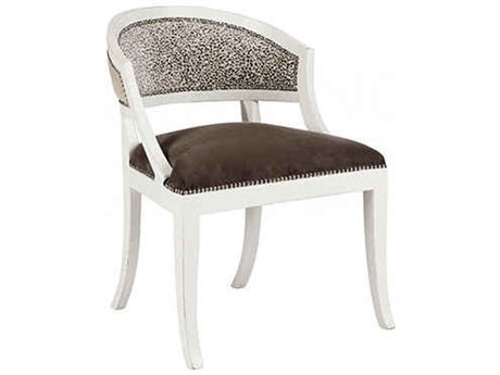 Aidan Gray Swedish Waxed White & Gray / White Dining Side Chair AIDCH566WWLEO