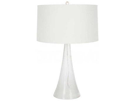 Aidan Gray Clear Iridescent / White Glass Table Lamp AIDL740HOM