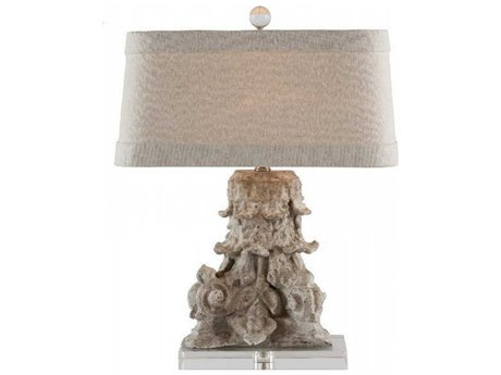 Aidan Gray Antiqued White Table Lamp AIDL91