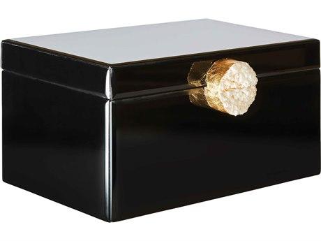 Aidan Gray Black Large Victoria Jewelry Box (Sold in 2) AIDD613
