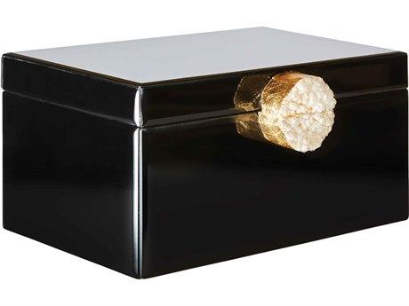 Aidan Gray Black Small Victoria Jewelry Box (Sold in 2) AIDD614