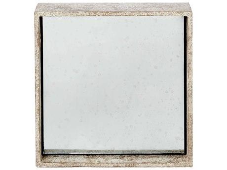 Aidan Gray Distressed White Wall Mirror AIDDM200SET