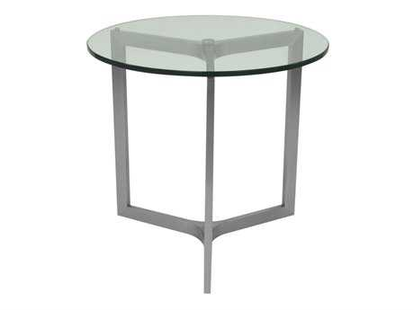 Allan Copley Designs Adrienne 24 Round Clear End Table
