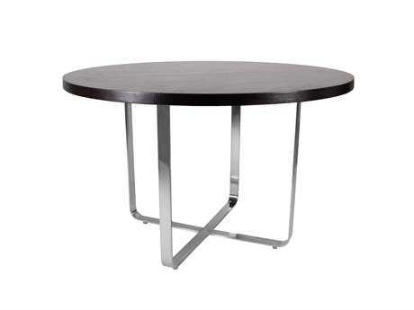 Allan Copley Designs Artesia 48 Round Mocha & Nickel Dining Table AN2090104MO
