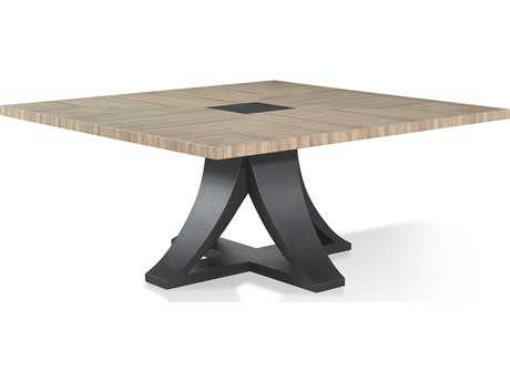 Allan Copley Bonita Mocha on Oak 66'' x 66'' Dining Table with Zebrawood Top AN3070304