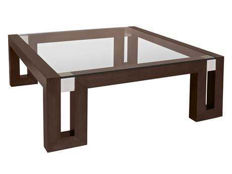 Allan Copley Designs Calligraphy 48 Square Espresso Coffee Table