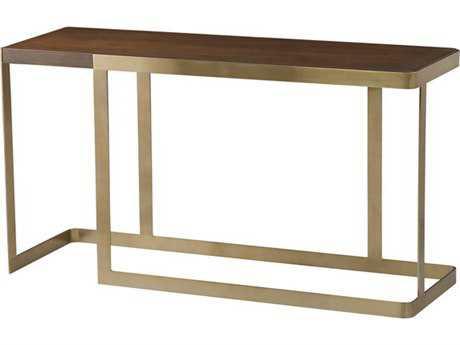Allan Copley Designs Caroline 56''L x 18''W Rectangular Walnut with Champagne Console Table AN2310103CHWW
