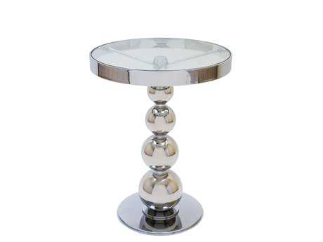 Allan Copley Designs San Juan 20 Round Chrome Pedestal Table AN2090502