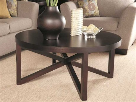 Allan Copley Designs Snowmass 42 Round Espresso Coffee Table AN340401