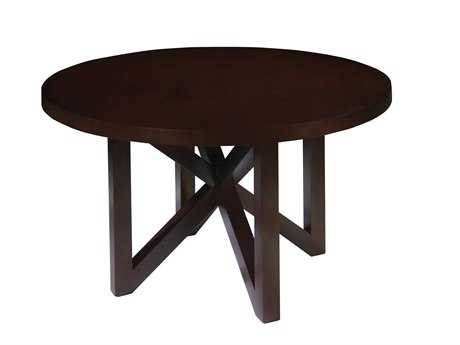 Allan Copley Designs Snowmass 54 Round Espresso Dining Table AN340404
