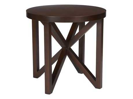 Allan Copley Designs Snowmass 28 Round Espresso End Table AN340402